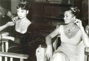 Audrey Hepburn and Anita Ekberg