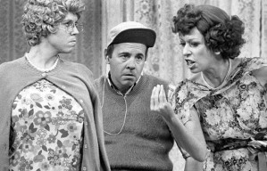 Tim Conway with Vicki Lawrence and Carol Burnett